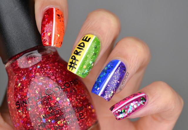 Sinful Colors Pride Hashtag Nail Art