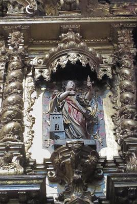 Santa Bárbara en la iglesia de San Antonio de Oporto