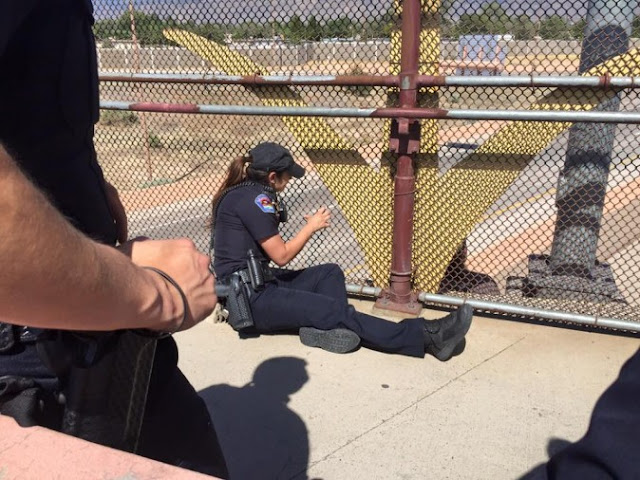 officers recount convincing man not to jump from overpass
