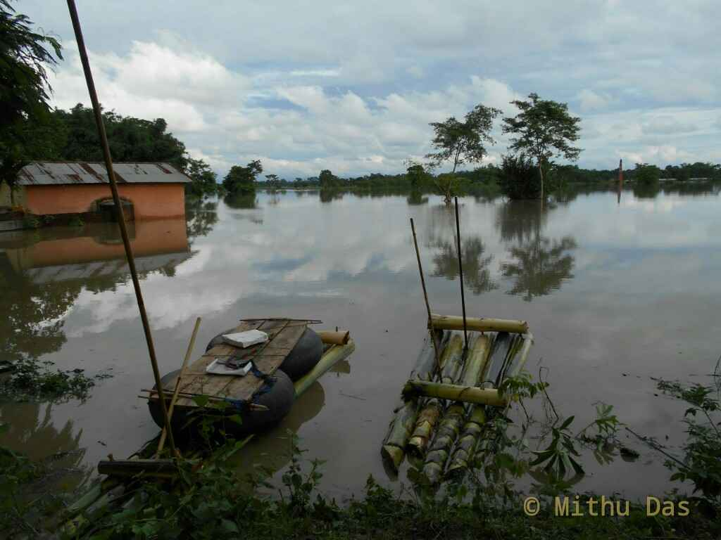 Moinapara Golaghat inundated by flood