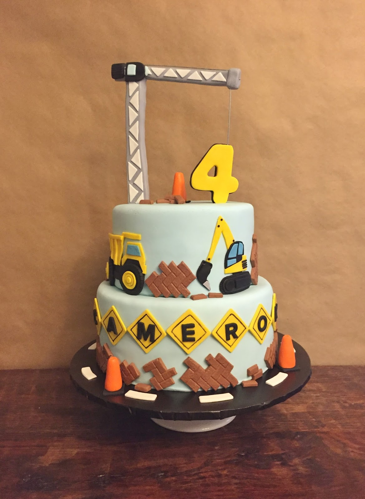 Construction Birthday Cake 8 10