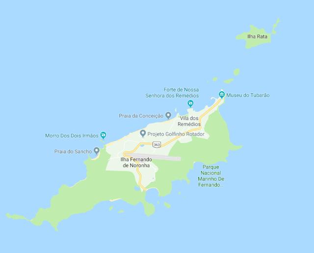 Fernando de Noronha mapa
