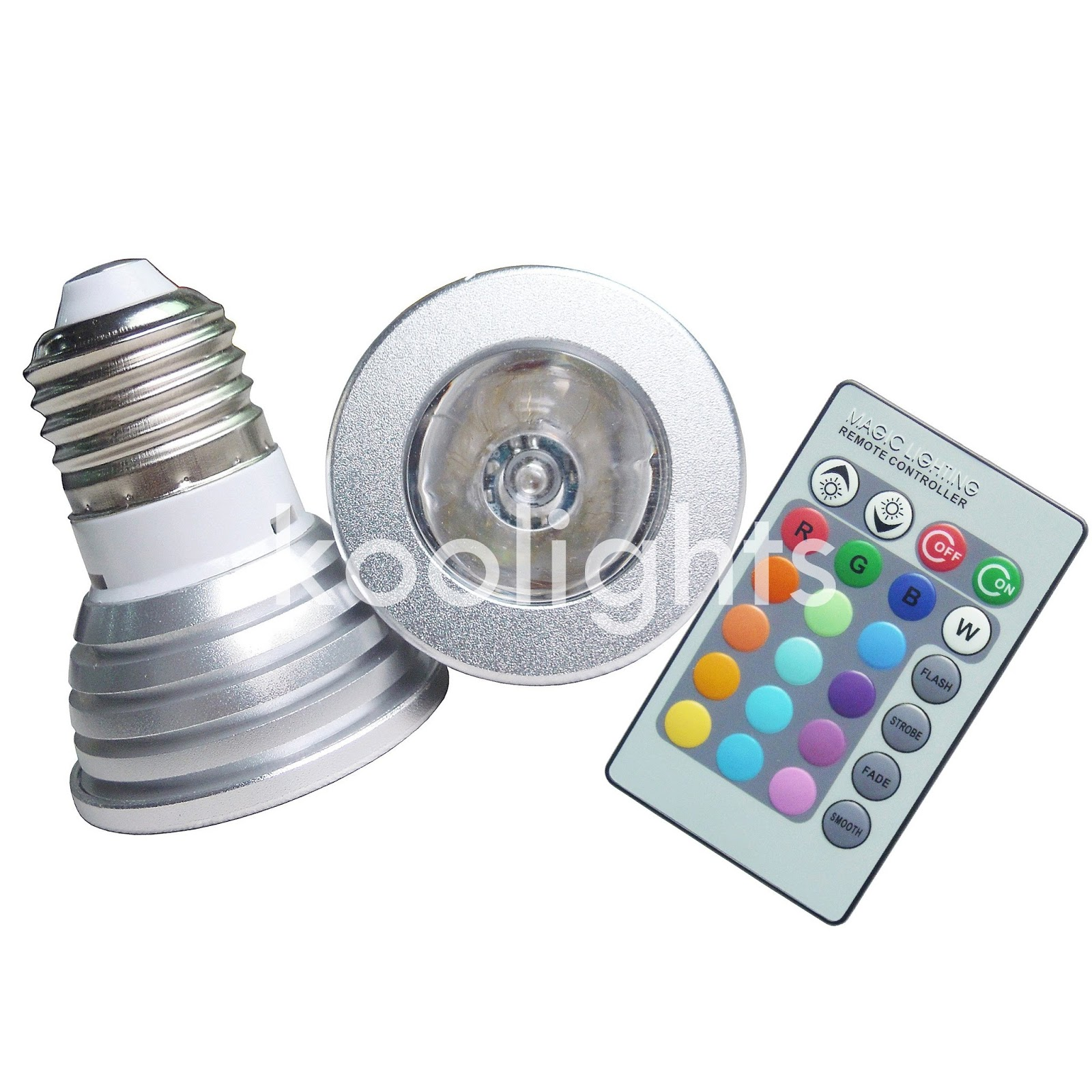 Koolights lamps ready made 3 watts led bulb with remote control 10 parisarafo Images