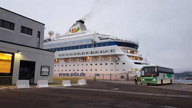 Cruise ship AIDAcara in Bergen, Norway; Ships in Bergen blog