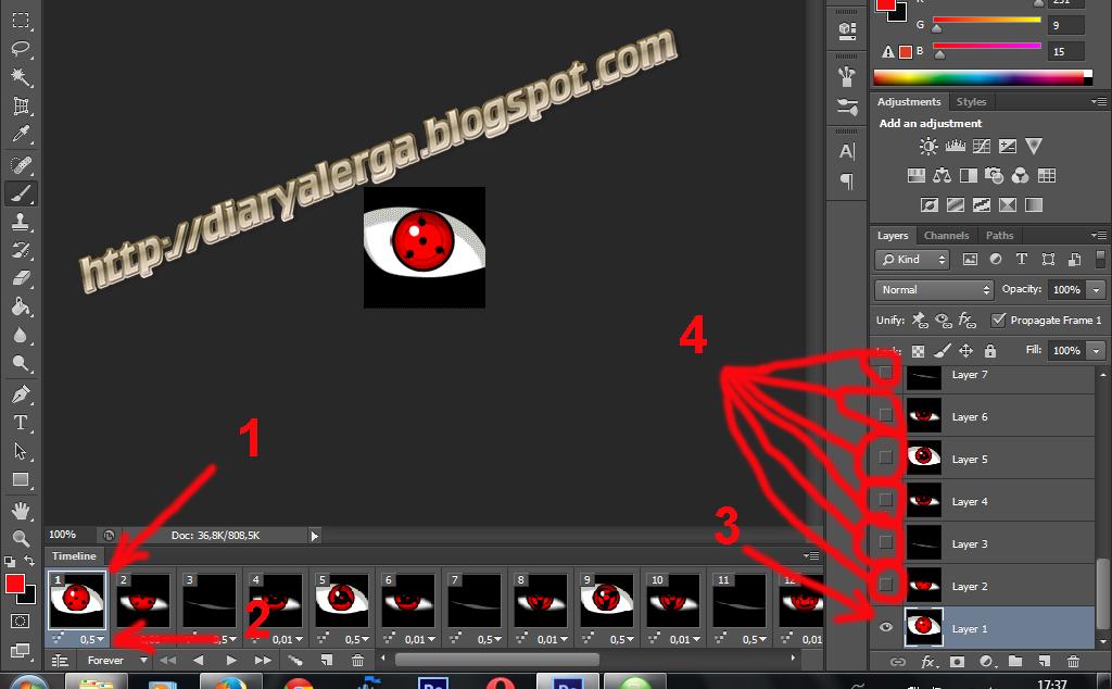 cara membuat DP bbm bergerak via photosop CS6
