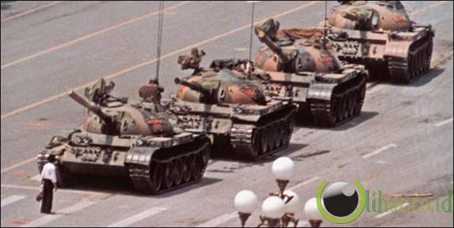 Pemberontak tak dikenal di Tiananmen