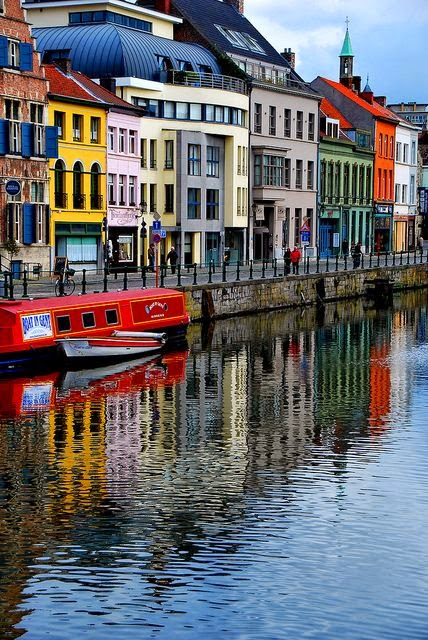 10 Best Places to Holiday in Belgium (100+ Photos) | Riverside in Ghent, Belgium