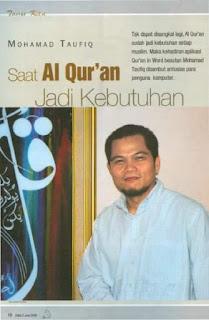 Quran in Ms Word Version 3.0 sudah Release