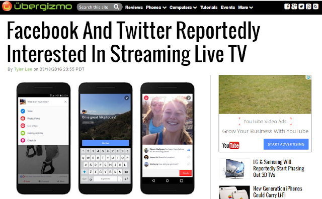 facebook dan twitter tertarik streaming tv