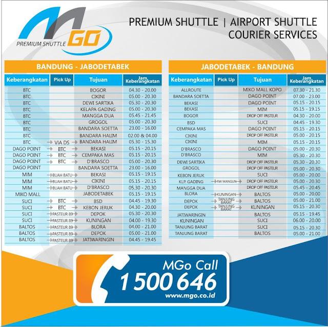 Jadwal Lengkap Travel mGO