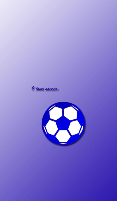love soccer blue