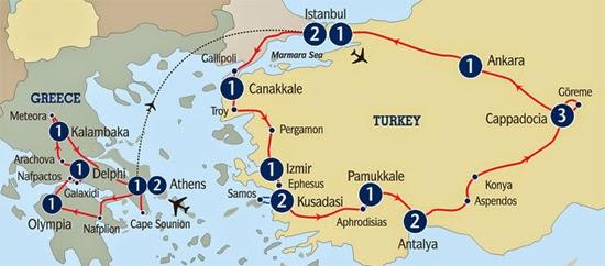 Circuito Turquia Combinado con Atenas-Grecia