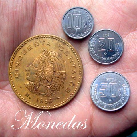 Algunas Monedas Mexicanas De La Segunda Mitad Del Siglo