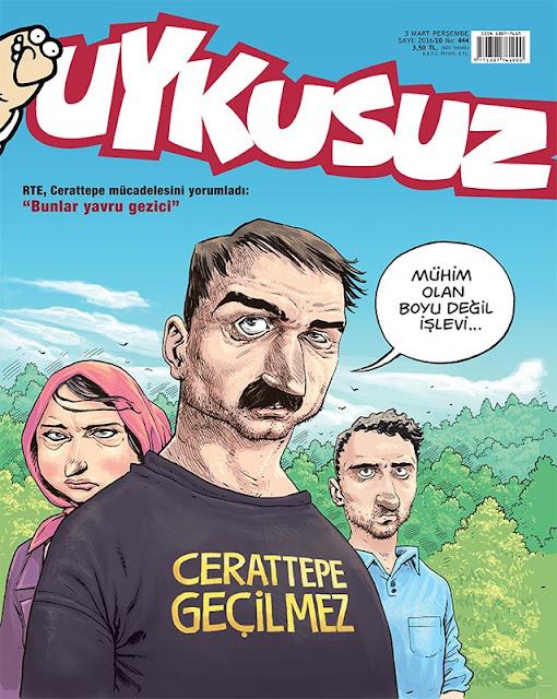 Uykusuz Dergisi - 3 Mart 2016 Kapak Karikatürü