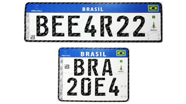 Placas de veículos brasileiros vão mudar e passarão a seguir o padrão do Mercosul