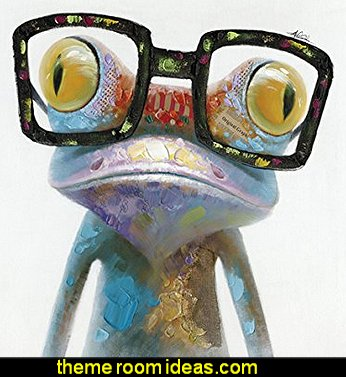 Hipster Froggy II Hand Painted Artwork