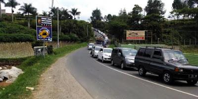 Jalur Wisata Lembang Terapkan One Way Contra Flow Saat Mudik