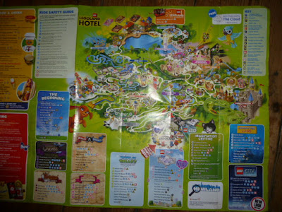Picture of a paper map of Legoland, from when we made our trip to Legoland on a budget