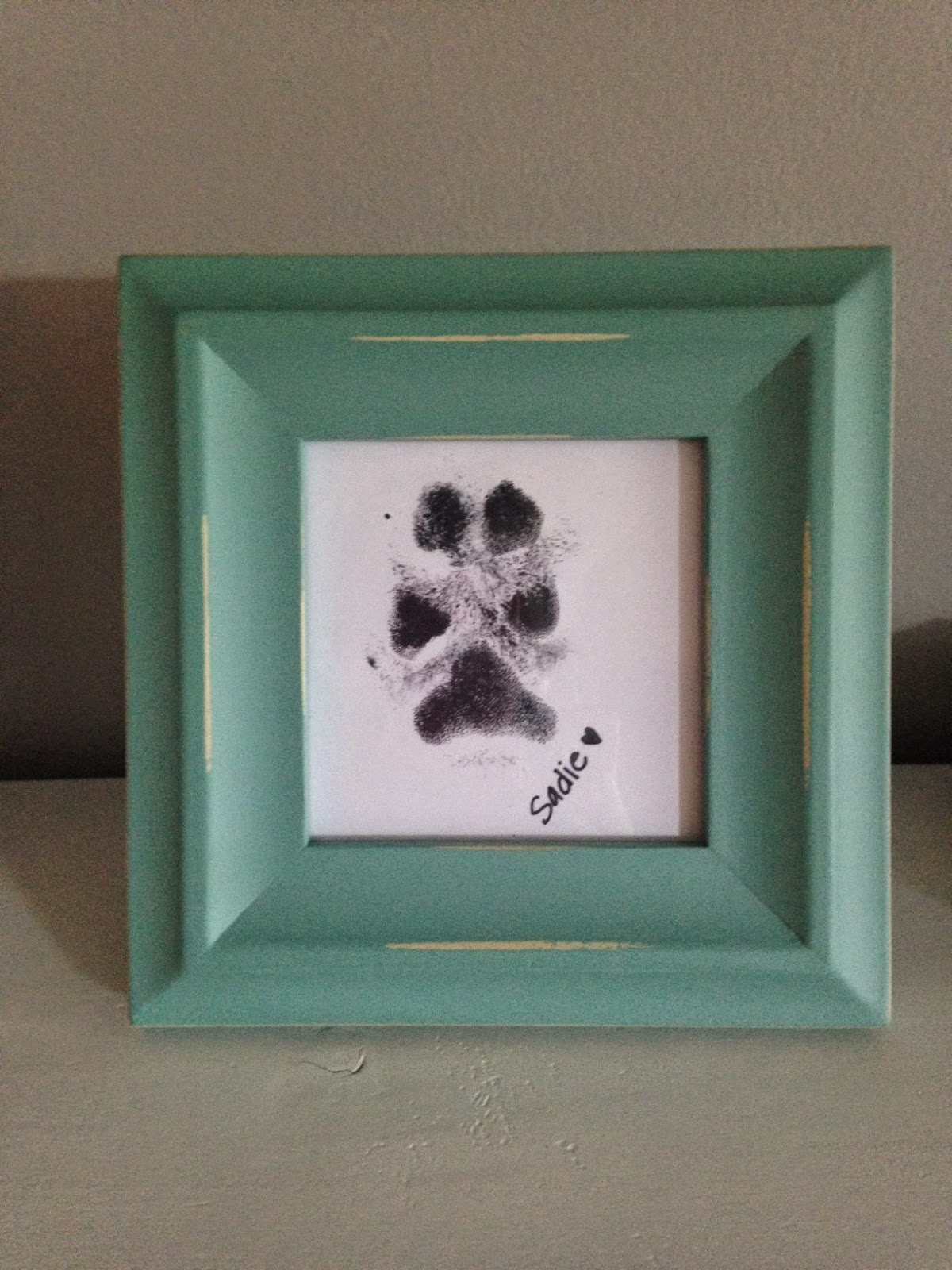 Domesticated Officer: DIY decor- Paw Print Frame