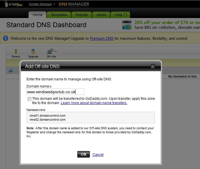 Dcs World Server Hosting: Dns Only Hosting Godaddy