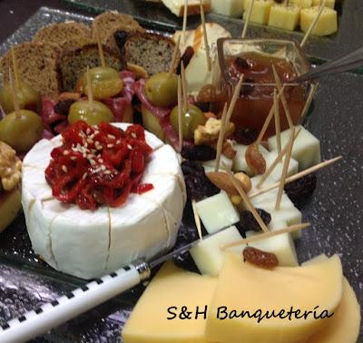 Marie Gourmet - Evento - Tabla de quesos y jamones