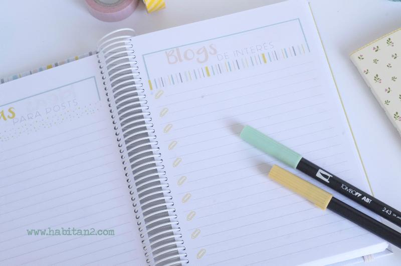 Nueva agenda personalizada 2017 diseño de Habitan2 | Papelería bonita, agenda anual 2017 ideal para bloggers| Agendas bonitas personalizadas by Habitan2
