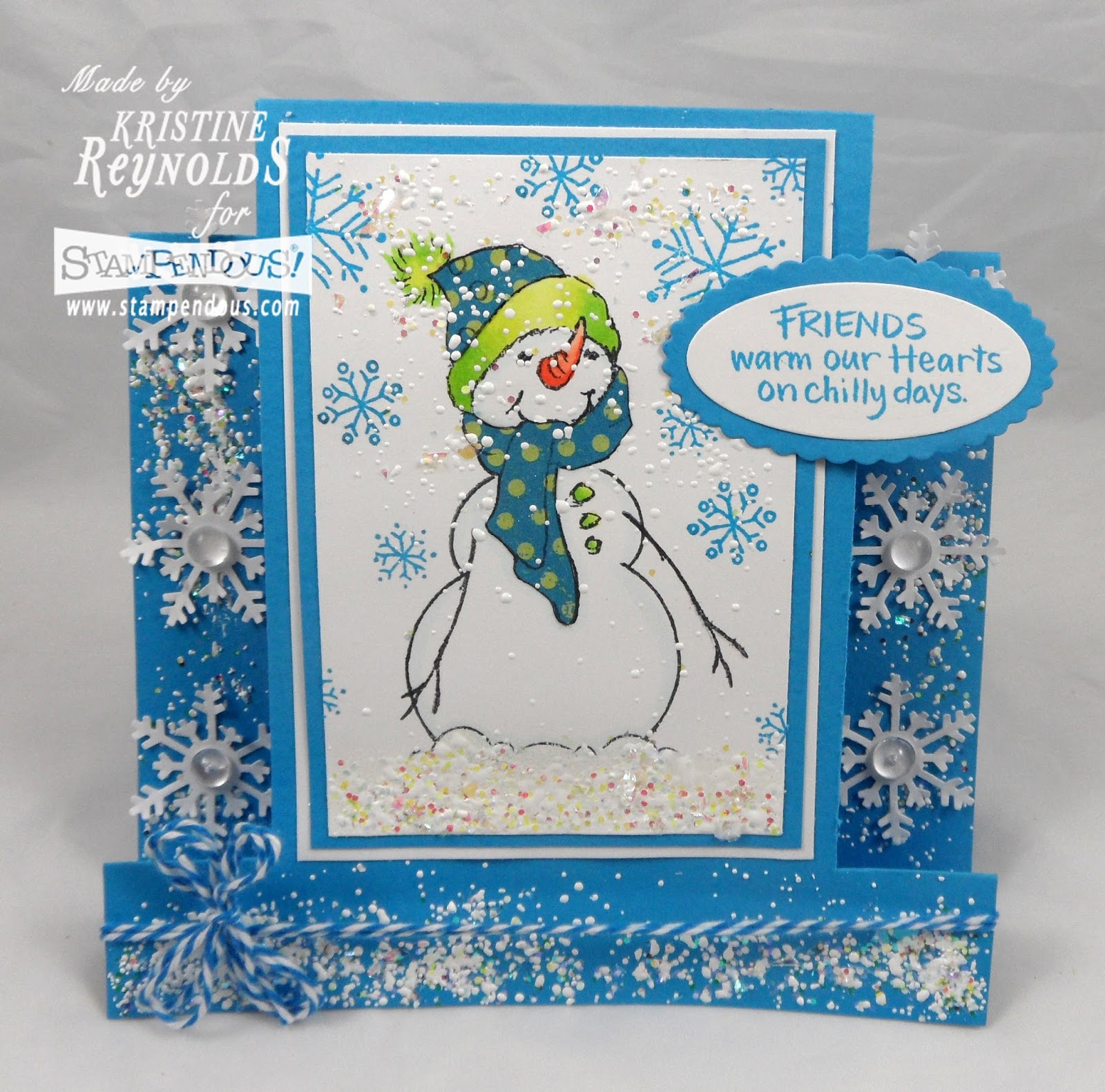 Stamping & Scrapping In California: Snow Buddies Are The Best