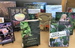 Display of gardening books