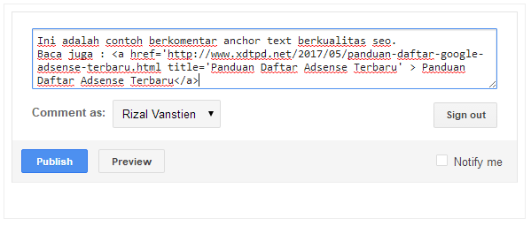 Cara Buat Komentar Anchor Text Berkualitas SEO untuk Backlink