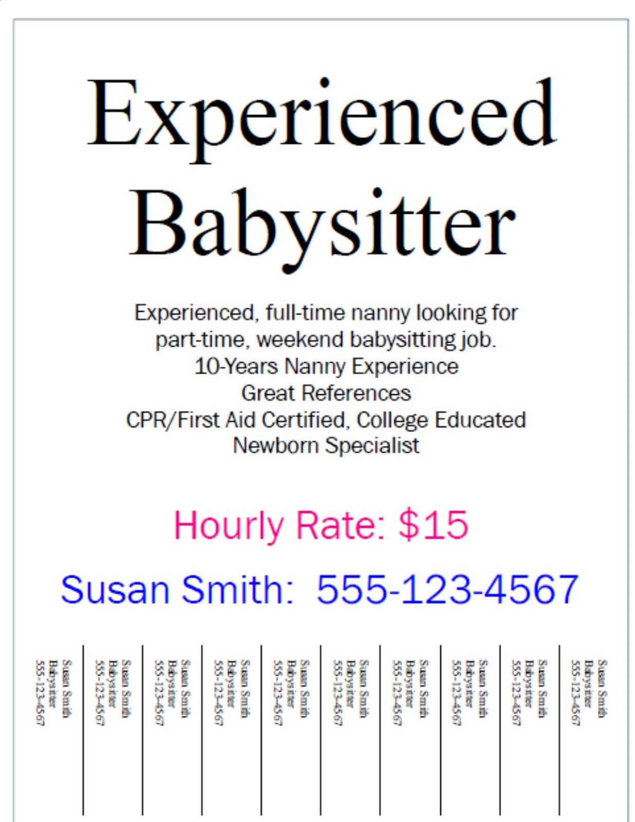 Babysitting On Resume Example. office technician cover letter ...