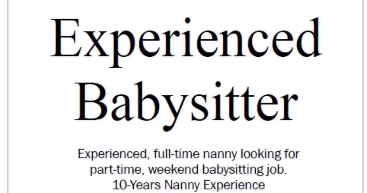 nanny babysitting jobs - Forteeuforic