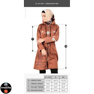 Hijacket Urbanashion COKELAT MAGNUM Jaket Hijab Muslimah