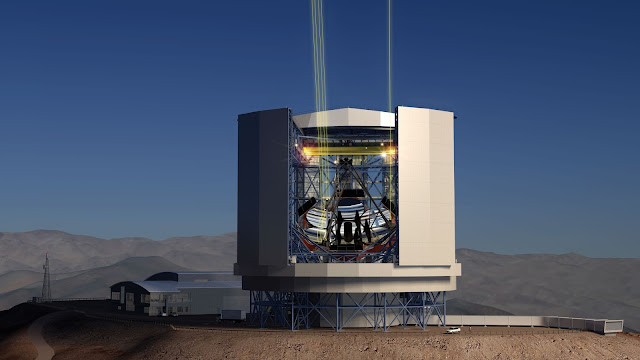 Artist's rendering of the Giant Magellan Telescope. Image credit: GMTO