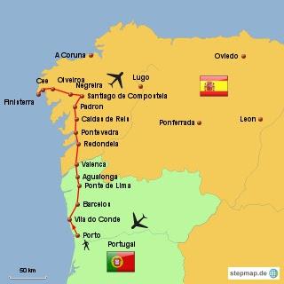 Camino Portugues Karte.Caminho Português 2013