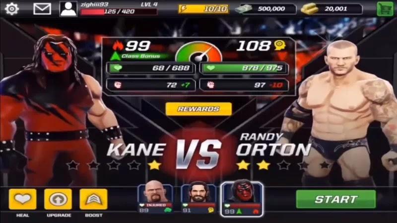 WWE Mayhem Apk Mod Data Unlimited Gold Cash