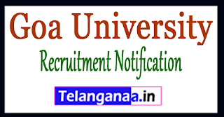 Goa University Recruitment Notification 2017