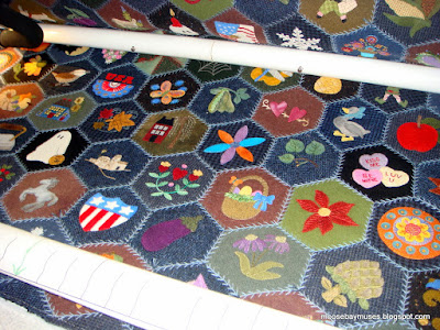 Hand Tied Quilting on a Long Arm Machine
