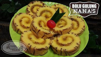 Resep Bolu Gulung Nanas