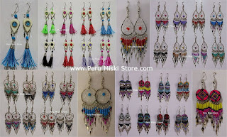 Handmade earrings from Peru