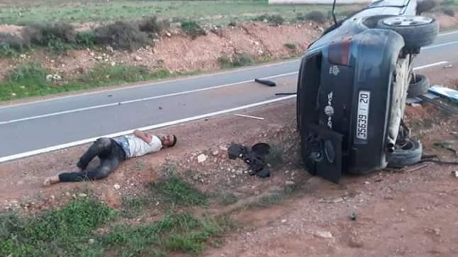 إصابة أربعة شبان في حادثة سير بسيدي إفني