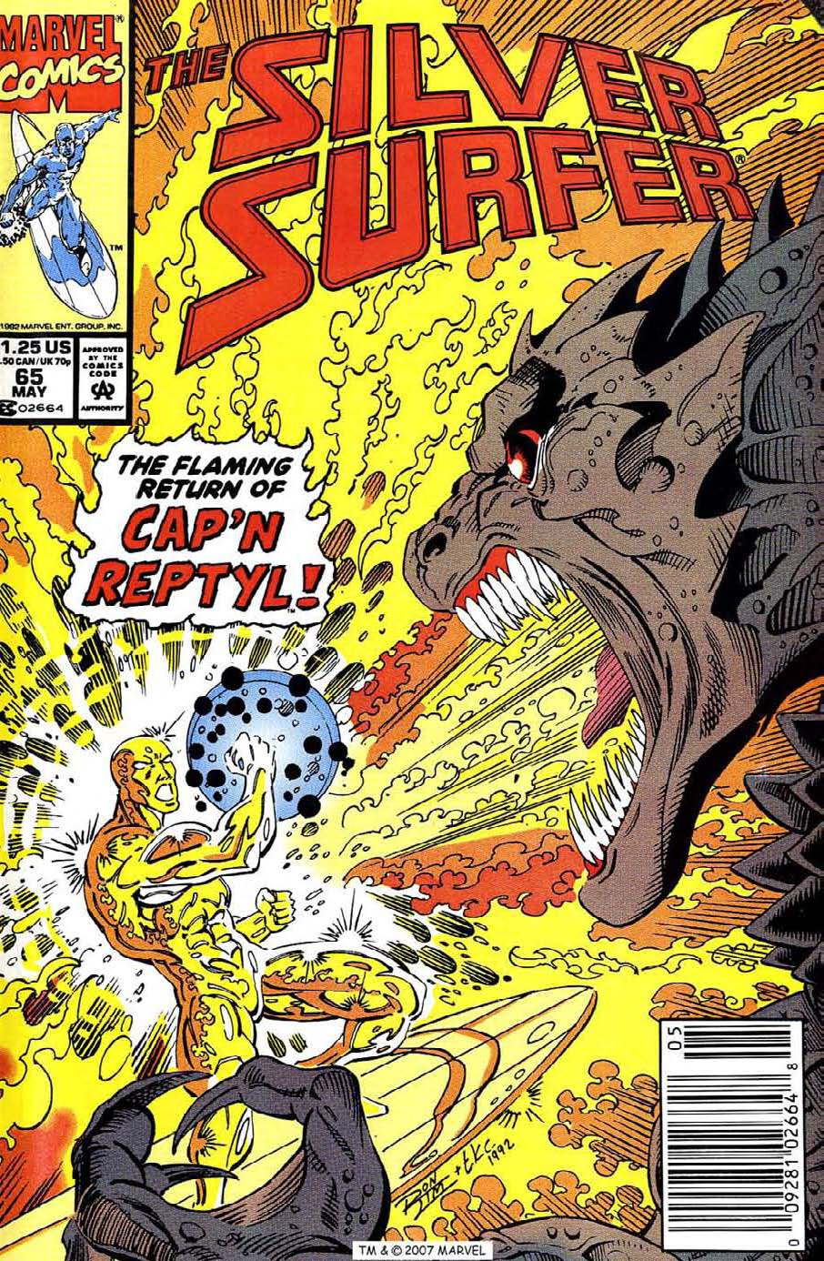 Read online Silver Surfer (1987) comic -  Issue #65 - 1