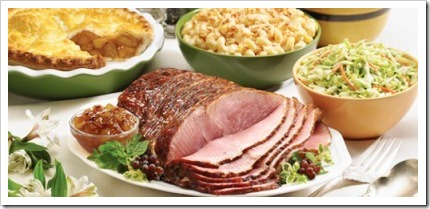Main Menu Option Baked Ham Served With Roasted Potatoes And Gravy A Broccoli Cauliflower Carrot Mix
