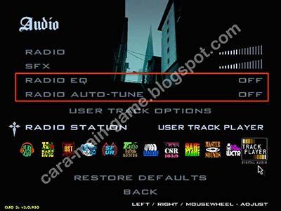 Pengaturan Audio GTA San Andreas