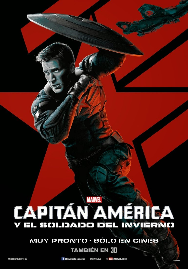 Captain America The Winter Soldier IMAX Character One Sheet Movie Poster Set - Chris Evans as Captain America