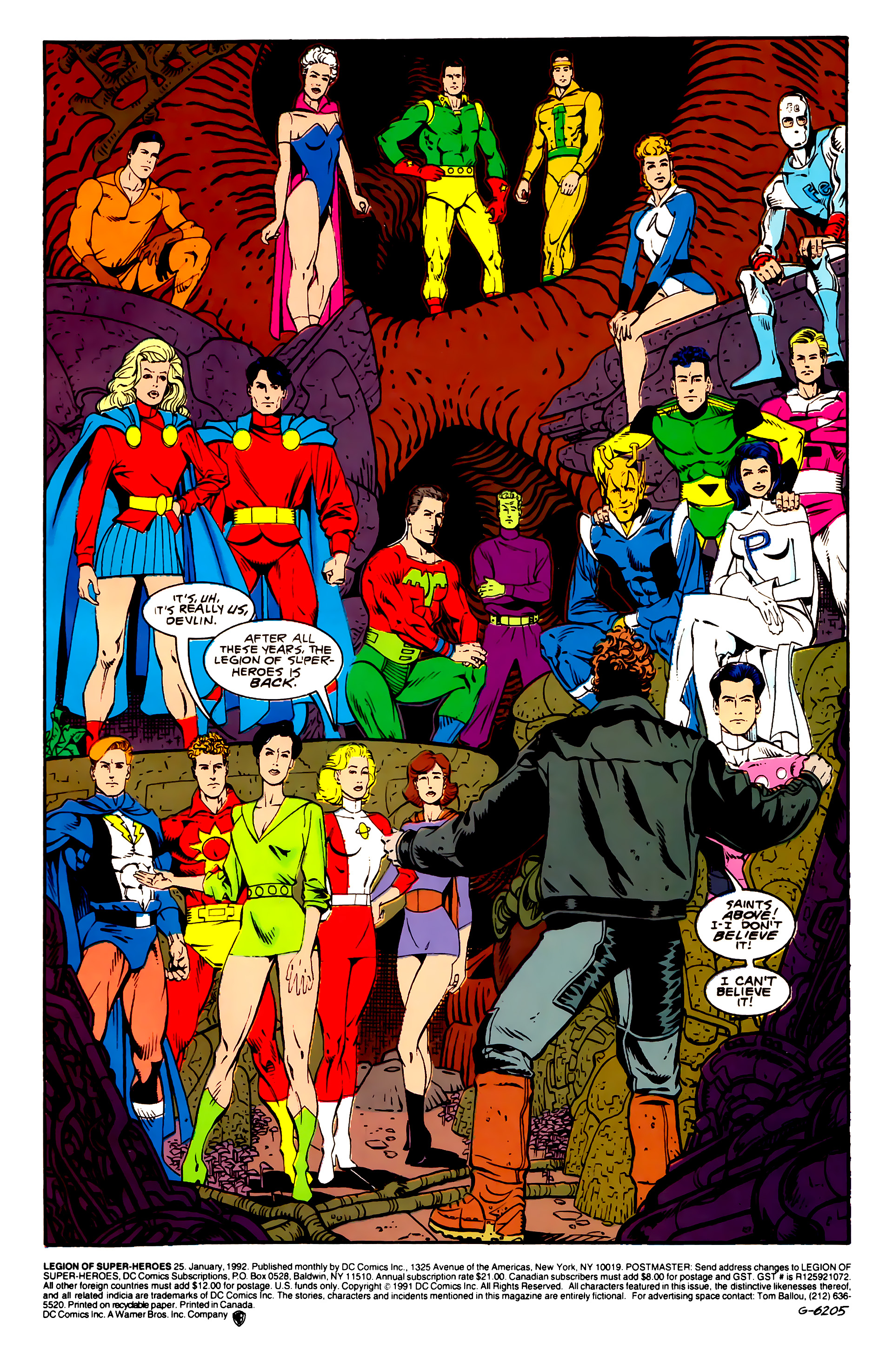 Legion of Super-Heroes (1989) 25 Page 1