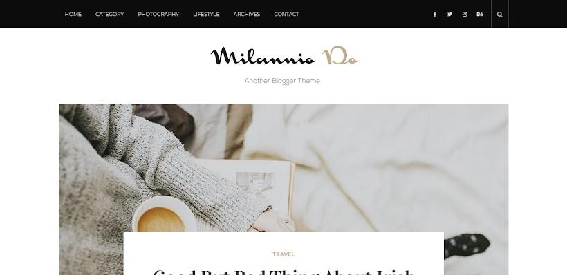 Milannio Free Blogger Template