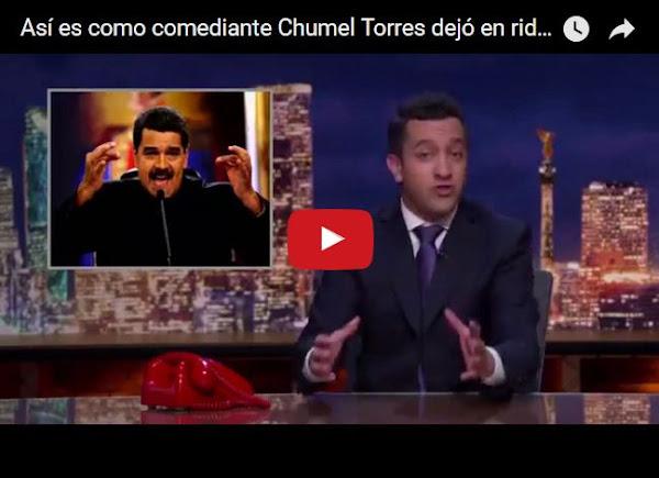 Comediante mexicano barre el piso con Nicolás Maduro
