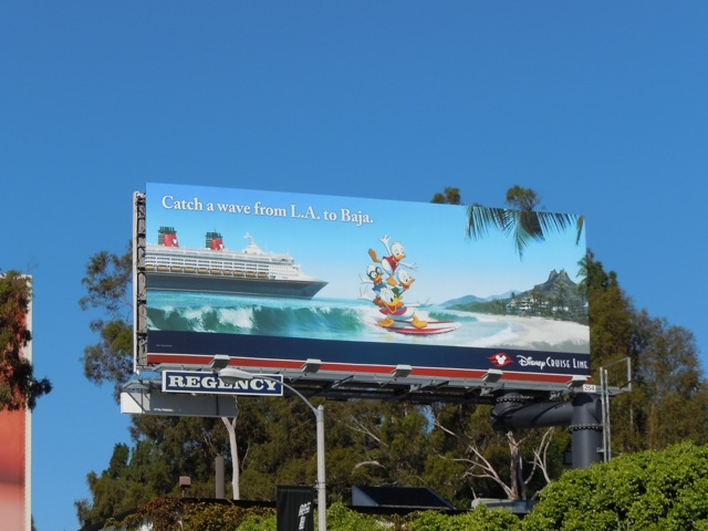 Disney Baja Cruise Line billboard
