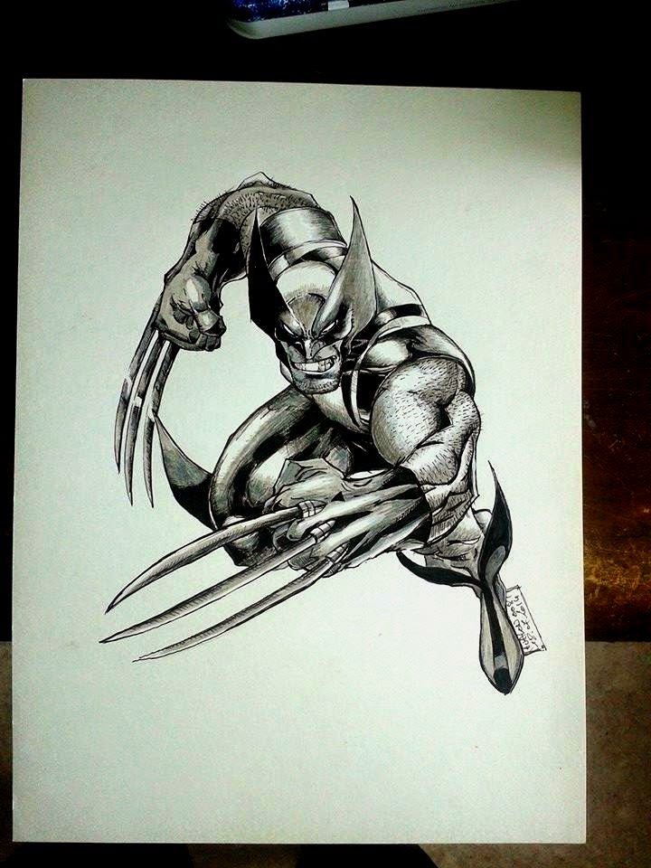 Franck ribault avalon peinture sur figurines mes - Wolverine dessin ...