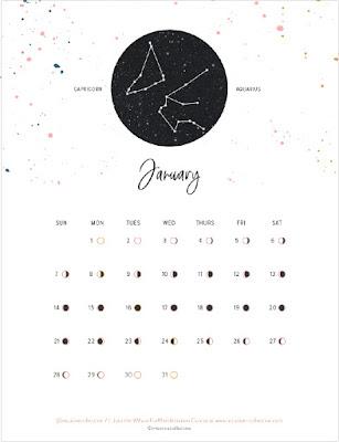2018 moon phases calendar
